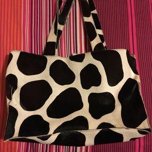 DKNY vintage bag. Animal hair black/brown tote.